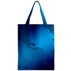 Fractals Lines Wave Pattern Zipper Classic Tote Bag by Nexatart