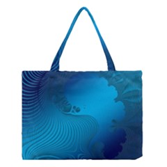 Fractals Lines Wave Pattern Medium Tote Bag