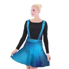 Fractals Lines Wave Pattern Suspender Skater Skirt by Nexatart