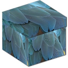 Feather Plumage Blue Parrot Storage Stool 12   by Nexatart