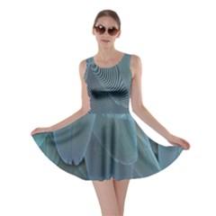 Feather Plumage Blue Parrot Skater Dress