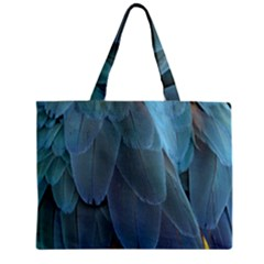 Feather Plumage Blue Parrot Mini Tote Bag by Nexatart