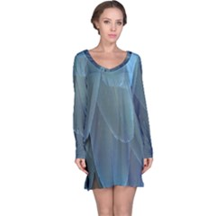 Feather Plumage Blue Parrot Long Sleeve Nightdress