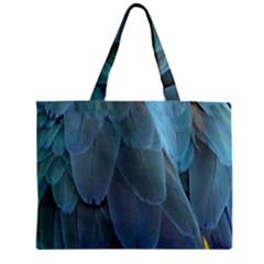 Feather Plumage Blue Parrot Zipper Mini Tote Bag by Nexatart
