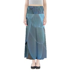 Feather Plumage Blue Parrot Maxi Skirts