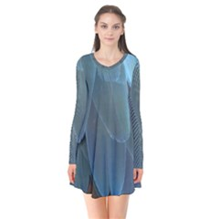 Feather Plumage Blue Parrot Flare Dress