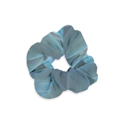Feather Plumage Blue Parrot Velvet Scrunchie