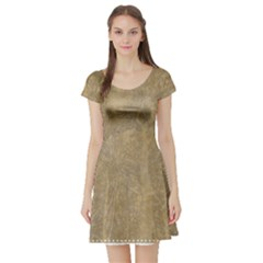 Abstract Forest Trees Age Aging Short Sleeve Skater Dress