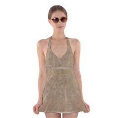 Abstract Forest Trees Age Aging Halter Swimsuit Dress