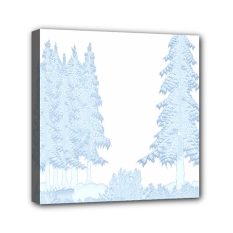 Winter Snow Trees Forest Mini Canvas 6  X 6  by Nexatart