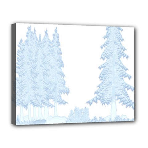 Winter Snow Trees Forest Canvas 14  X 11  by Nexatart