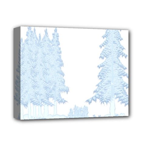 Winter Snow Trees Forest Deluxe Canvas 14  X 11  by Nexatart