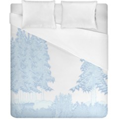 Winter Snow Trees Forest Duvet Cover (california King Size) by Nexatart
