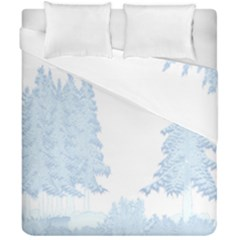 Winter Snow Trees Forest Duvet Cover Double Side (california King Size)