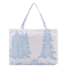 Winter Snow Trees Forest Medium Tote Bag