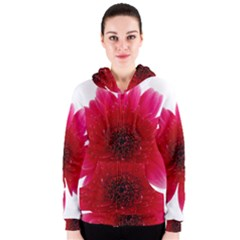 Flower Isolated Transparent Blossom Women s Zipper Hoodie