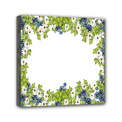 Birthday Card Flowers Daisies Ivy Mini Canvas 6  X 6  by Nexatart