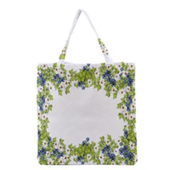 Birthday Card Flowers Daisies Ivy Grocery Tote Bag by Nexatart