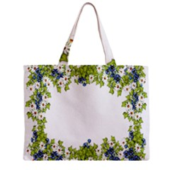 Birthday Card Flowers Daisies Ivy Zipper Mini Tote Bag by Nexatart