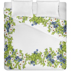 Birthday Card Flowers Daisies Ivy Duvet Cover Double Side (king Size) by Nexatart