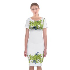 Birthday Card Flowers Daisies Ivy Classic Short Sleeve Midi Dress