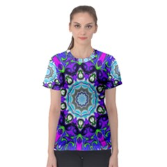 Graphic Isolated Mandela Colorful Women s Sport Mesh Tee