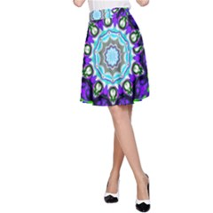 Graphic Isolated Mandela Colorful A Line Skirt