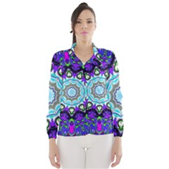 Graphic Isolated Mandela Colorful Wind Breaker (women)