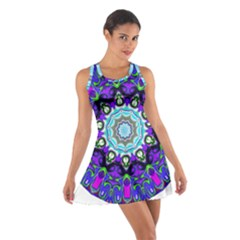 Graphic Isolated Mandela Colorful Cotton Racerback Dress