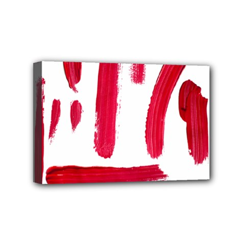 Paint Paint Smear Splotch Texture Mini Canvas 6  X 4  by Nexatart