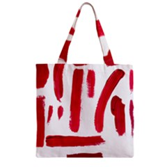 Paint Paint Smear Splotch Texture Zipper Grocery Tote Bag by Nexatart