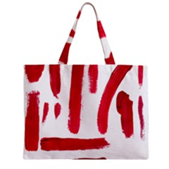 Paint Paint Smear Splotch Texture Zipper Mini Tote Bag