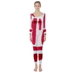 Paint Paint Smear Splotch Texture Long Sleeve Catsuit