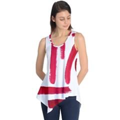 Paint Paint Smear Splotch Texture Sleeveless Tunic