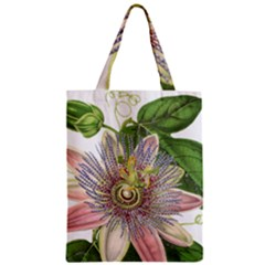 Passion Flower Flower Plant Blossom Zipper Classic Tote Bag by Nexatart