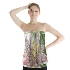Passion Flower Flower Plant Blossom Strapless Top