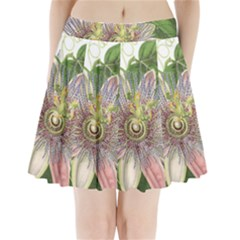 Passion Flower Flower Plant Blossom Pleated Mini Skirt by Nexatart
