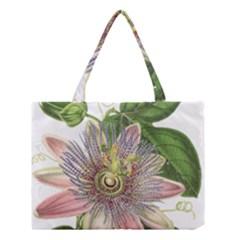 Passion Flower Flower Plant Blossom Medium Tote Bag by Nexatart