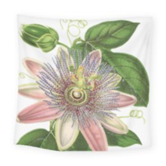 Passion Flower Flower Plant Blossom Square Tapestry (large) by Nexatart