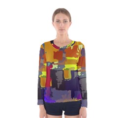 Abstract Vibrant Colour Women s Long Sleeve Tee