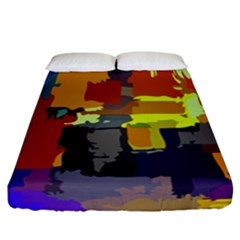 Abstract Vibrant Colour Fitted Sheet (california King Size) by Nexatart