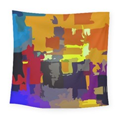 Abstract Vibrant Colour Square Tapestry (large) by Nexatart