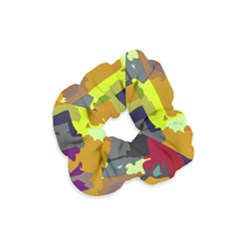 Abstract Vibrant Colour Velvet Scrunchie