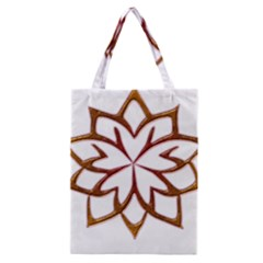 Abstract Shape Outline Floral Gold Classic Tote Bag