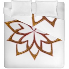 Abstract Shape Outline Floral Gold Duvet Cover Double Side (king Size)