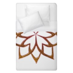 Abstract Shape Outline Floral Gold Duvet Cover (single Size)