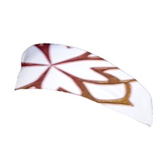 Abstract Shape Outline Floral Gold Stretchable Headband