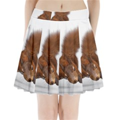 Squirrel Wild Animal Animal World Pleated Mini Skirt