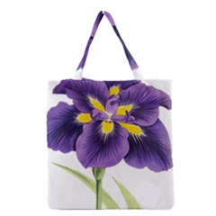 Lily Flower Plant Blossom Bloom Grocery Tote Bag by Nexatart