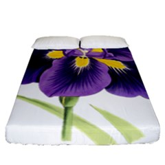 Lily Flower Plant Blossom Bloom Fitted Sheet (queen Size)